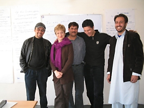 Afghanistan: Rebecca with aid workers in Puli Khumri, Baghlan Province