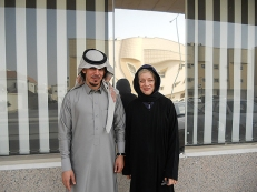 Saudi Arabia: Rebecca with friend, Riyadh