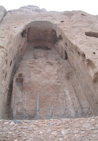 Afghanistan: Remains of a Buddha site, bombed by the Taliban, Bamyan