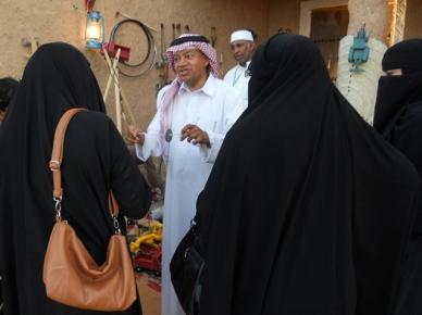 Saudi Arabia: Crafts booth at a Janadriya Festival, Riyadh